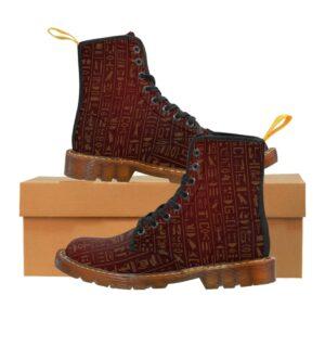 Egyptian Hieroglyph Men's Canvas Boots
