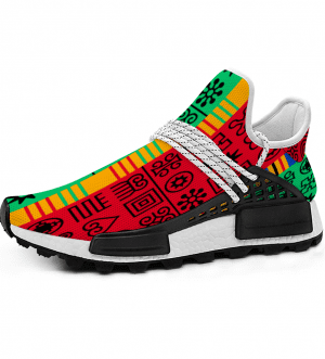 African Adinkra Unisex Mid Top Breathable Non-slip Sneakers
