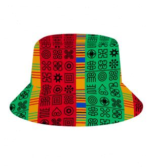 Adinkra Custom Hats All Over Print Bucket Hat