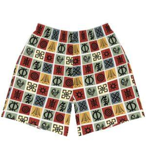 Adinkra Symbols Men's Athletic Long Shorts