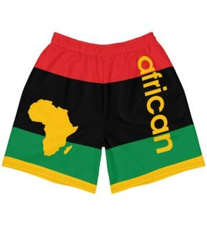 RGB African Men's Athletic Long Shorts