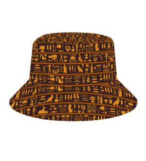 Hieroglyph Custom Hats All Over Print Bucket Hat
