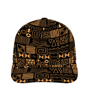 African PatternCurved Bill Baseball Hat