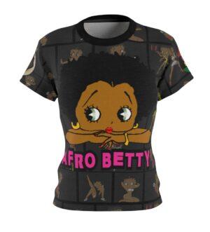Betty Boop Was a Black Women's AOP Cut & Sew Tee