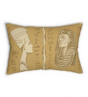 Ancient Egypt Spun Polyester Lumbar Pillow