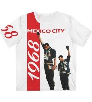 1968 Olympics Unisex AOP Cut & Sew Red White T-Shirt