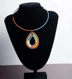Pendant African Beaded Choker traditional Necklace