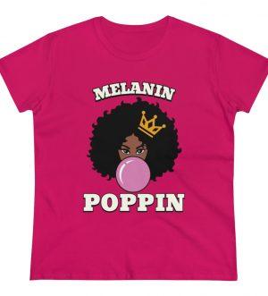 Melanin Poppin Women's Heavy Cotton Tee