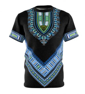 Unisex African Print Dashiki T-Shirt AOP Cut & Sew Tee
